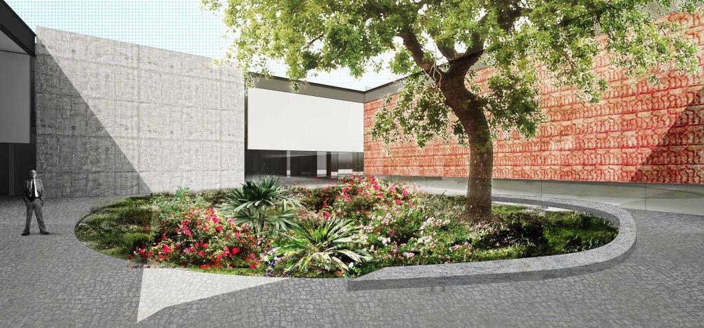 coletivo paisagismo arquiteto associados projeto render plantio mudas
