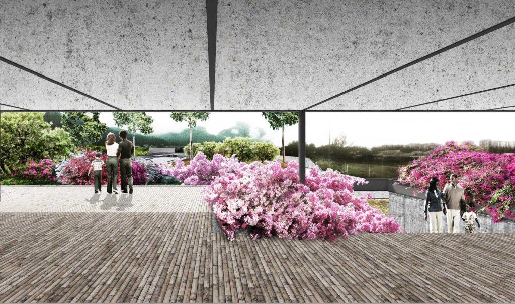 museu do pontal financiamento coletivo paisagismo arquiteto associados projeto render plantio mudas