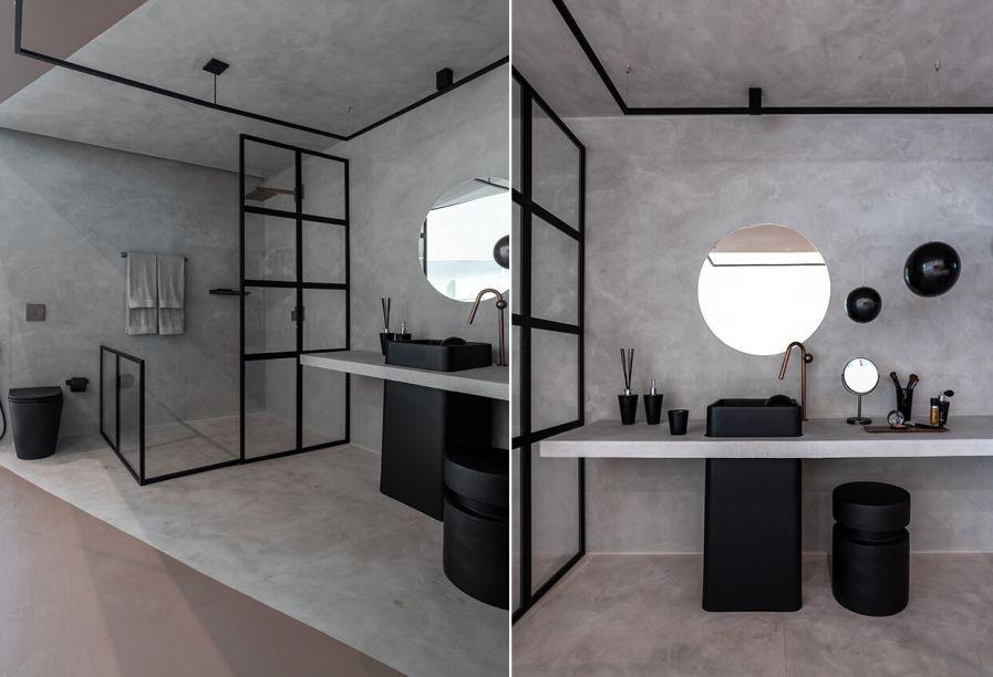 Sala de Banho Deca, por Stephanie Mattos para o Janelas CASACOR Bahia.