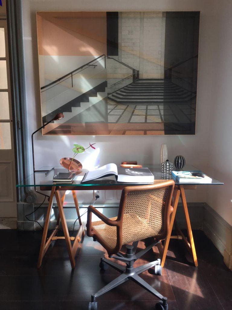 Espaço de um home office. Um dos ambientes que estarão presentes na CASACOR Rio de Janeiro que estreia dia 02 de março de 2021