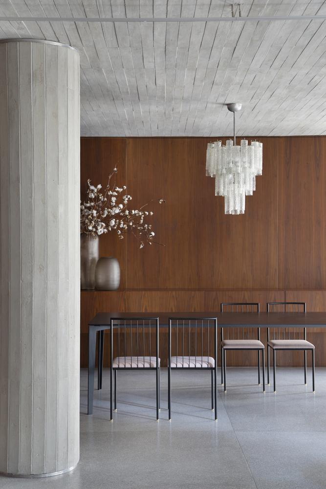 Lustre; Inspiração; Sala de Jantar; Apartamento DN; BC Arquitetos; Ideias; Decoração; Madeira; Revestimento; Arte; Mobília Antiga; Vintage