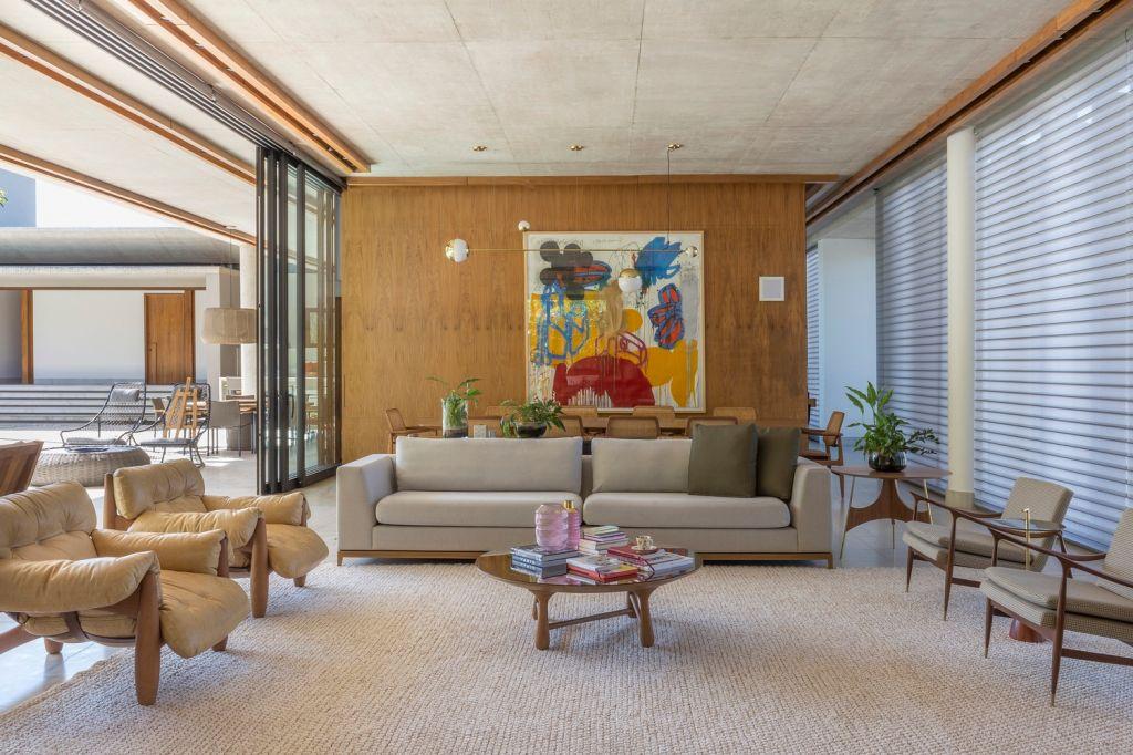 Sala de Estar; Casa da Mata; Leo Romano; Casa; Inspiração; natureza; decoração; arquitetura; goiana