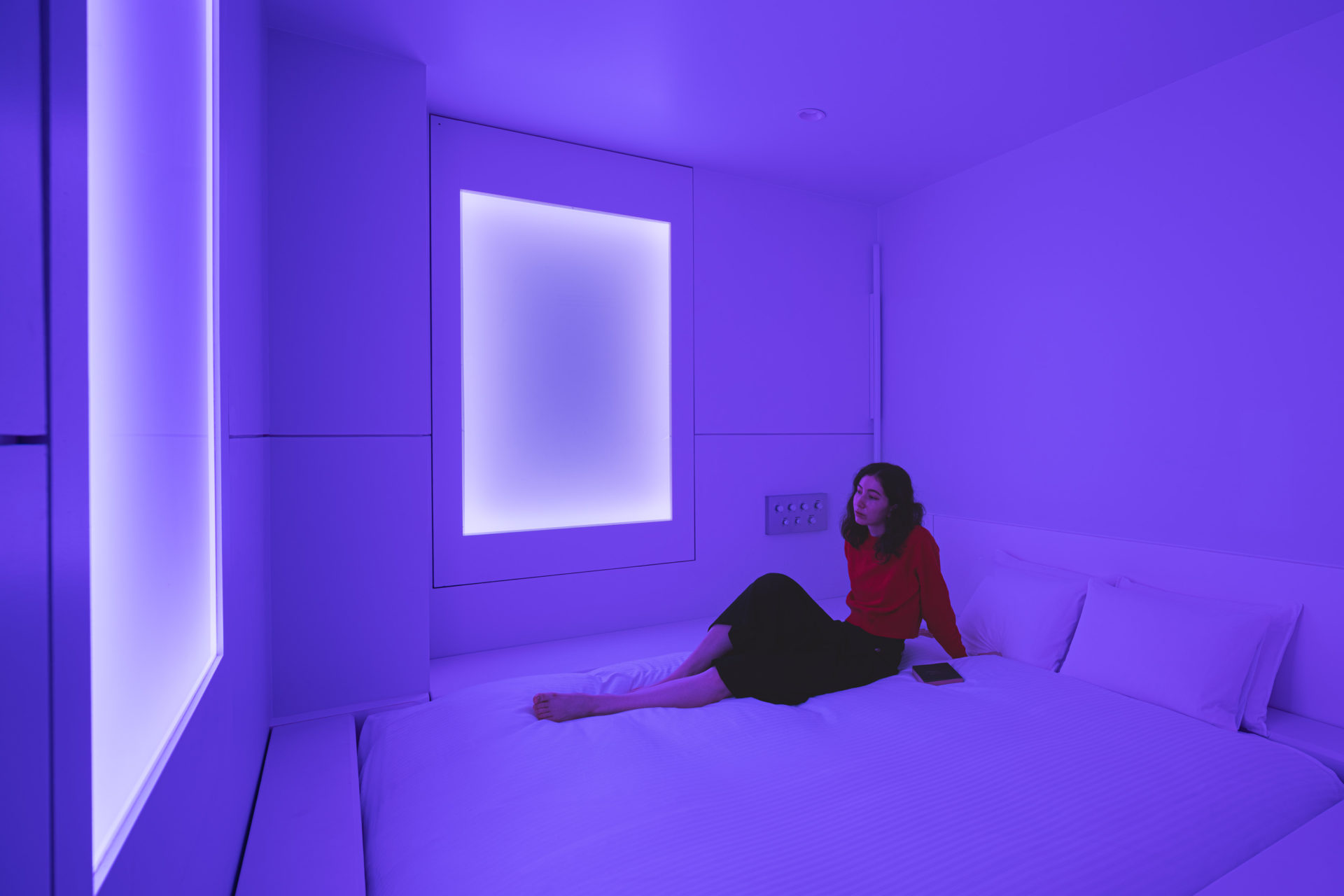 Hotel ou galeria de arte - Quarto Float, do hotel BnB Wall, localizado em Tóquio, Japão