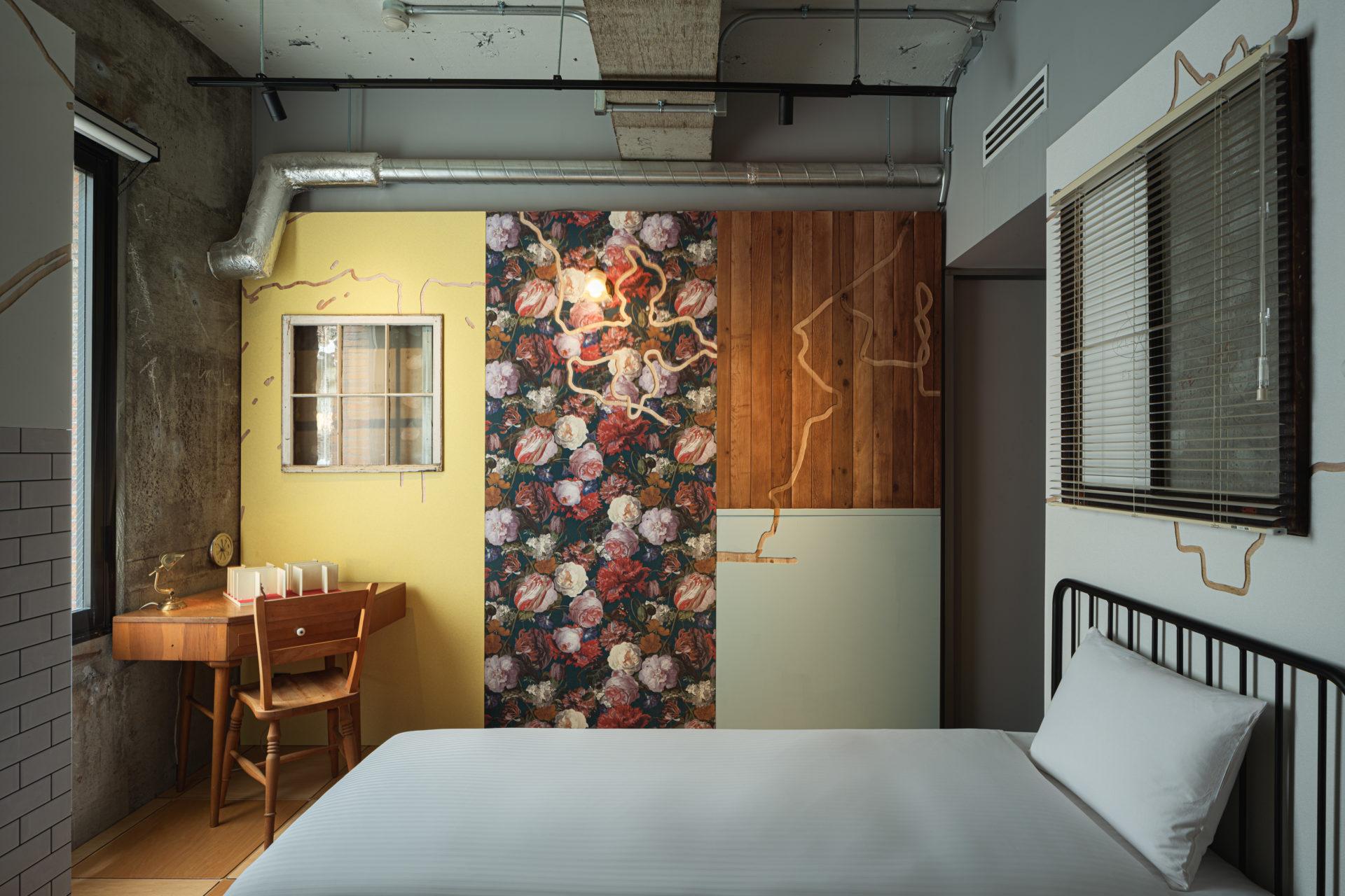 Hotel ou galeria de arte - Quarto PlayWall, do hotel BnB Wall, localizado em Tóquio, Japão