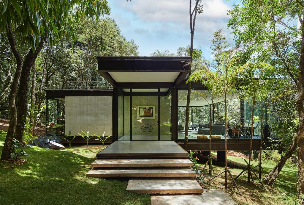angela roldão casa de vidro arquitetura casa de campo construção projeto vidro natureza floresta modernismo casacor foto jomar bragança