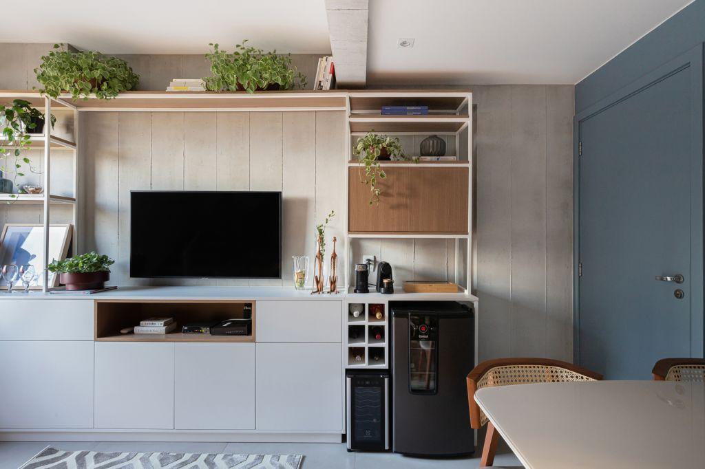 Sala; apartamento pequeno; design; decoração; espaço pequeno