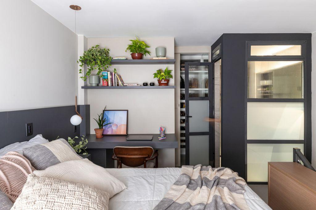 Quarto; apartamento pequeno; design; decoração; espaço pequeno