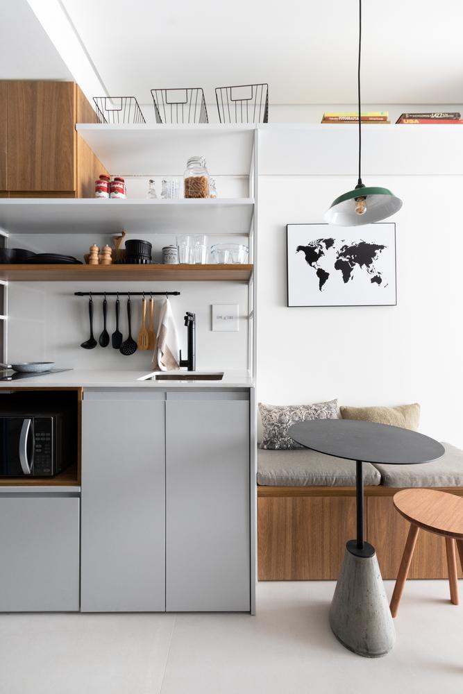 cozinha; apartamento pequeno; São Paulo; decoração