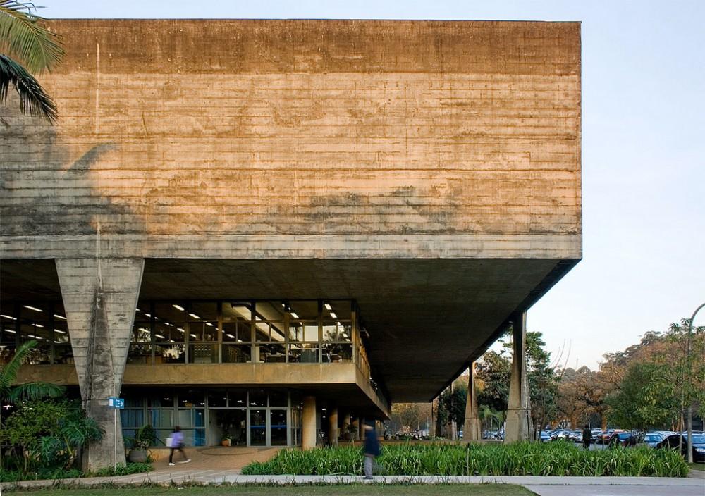 fau usp são paulo faculdade de arquitetura e urbanismo brutalismo obra