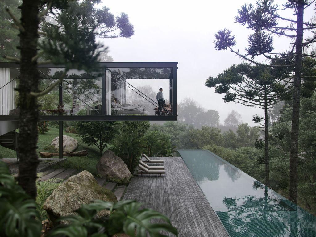 Render da Fog House criado pelo Studio Vir