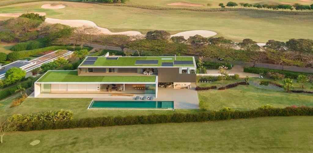 teto verde em casa JY projeto de Arthur Casas