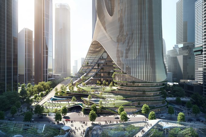 Arranha-céu chinês possui jardins que purificam o ar da cidade
