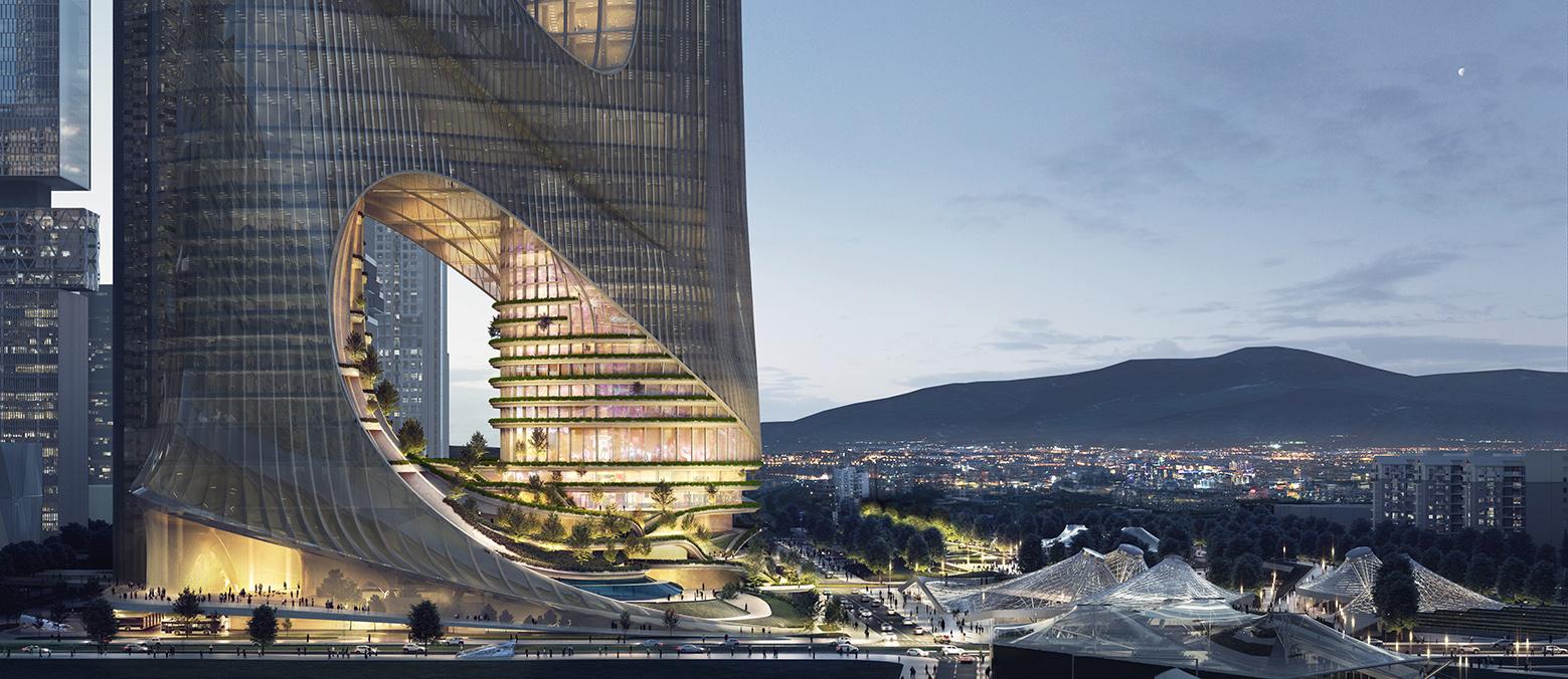 arquitetura zaha hadid predio construção sustentabilidade jardim urbanismo china