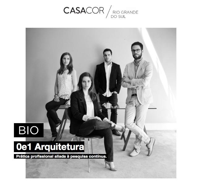 Escritório 0e1 Arquitetura; elenco CASACOR RS 2021