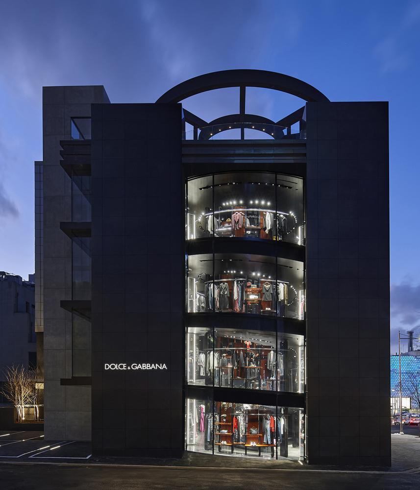 Loja Dolce & Cabbana na Coreia do Sul. Projetada por Jean Nouvel