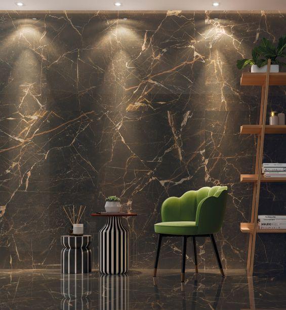 Ceusa: a coleção Pantera é inspirada no mármore imperador, com os veios claros e avermelhados, natural da Espanha. Os produtos possuem acabamentos polido e natural.