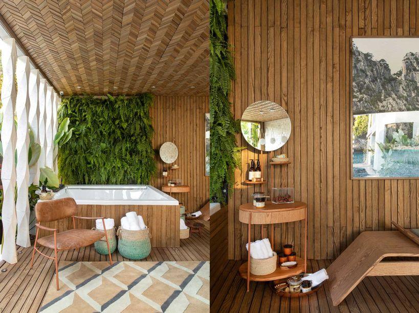 SPA Urbano decoração de banheiros amplos