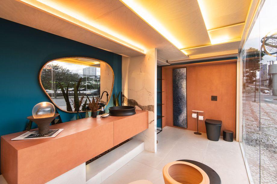 Sala de Banho do Ceramista, por Marcelo Diniz e Mateus Finzetto para o Janelas CASACOR Sao Paulo