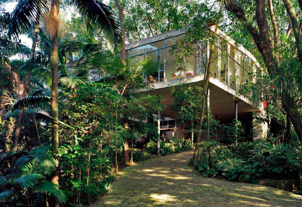 casa de vidro lina bo bardi localizada no Morumbi em São Paulo