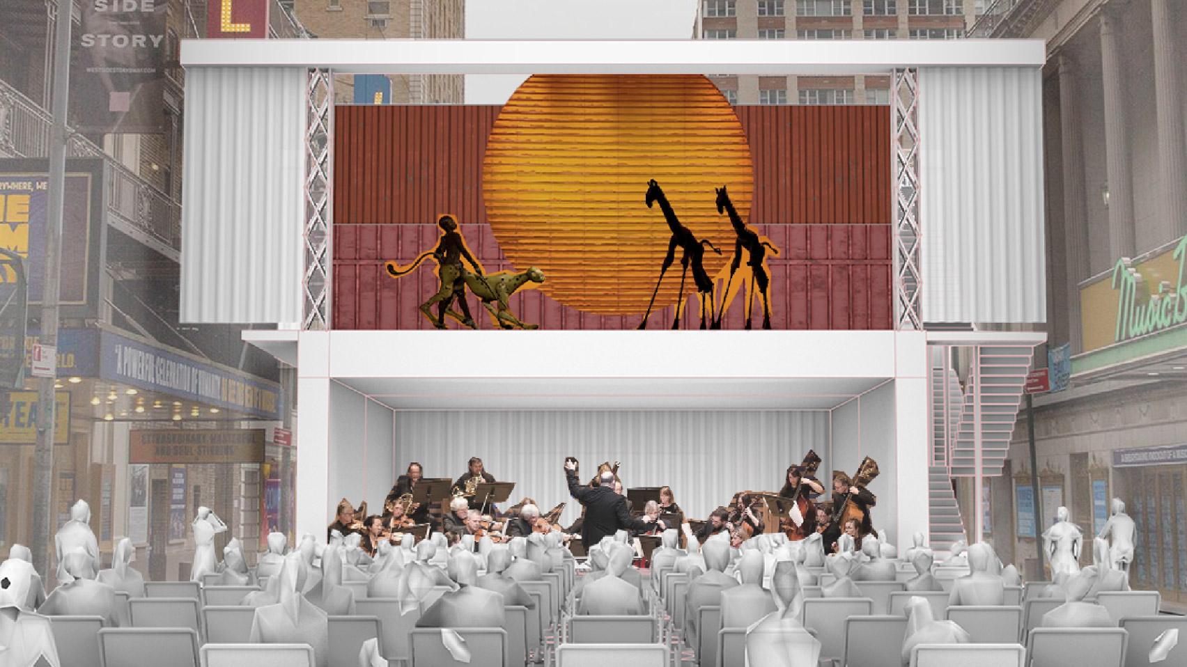 Contêineres podem virar teatro ao ar livre em Nova York