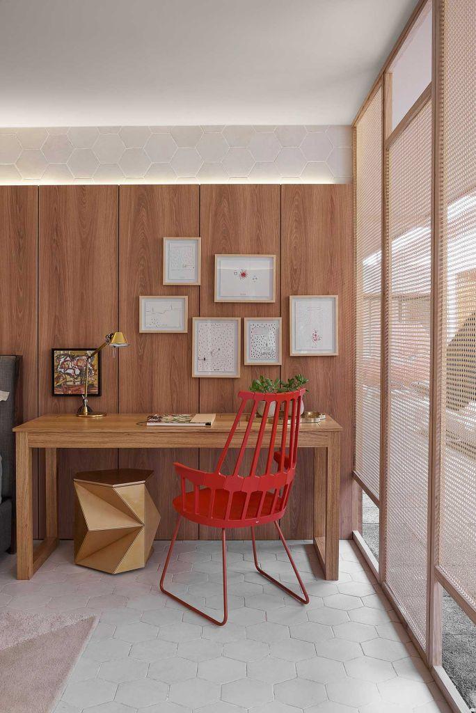 home office escritório cadeira colorida ponto de cor casacor brasilia 2019