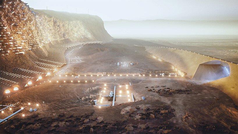 A primeira cidade autossuficiente em Marte que poderá abrigar humanos