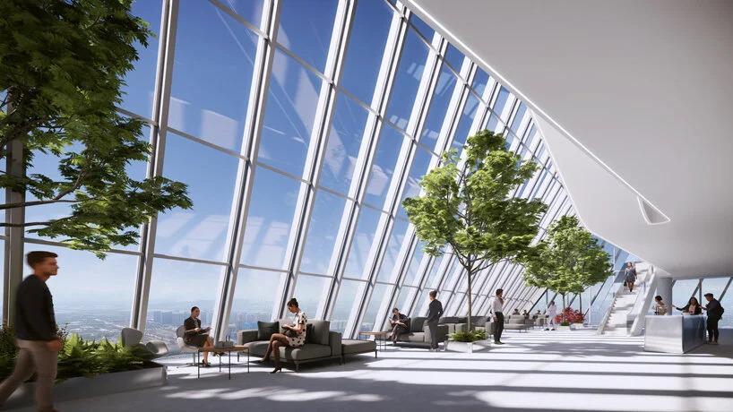 prédio; china; em forma de loop; tecnologia; sustentabilidade