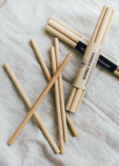 canudos de bambu são ótimas opções para substituir plástico