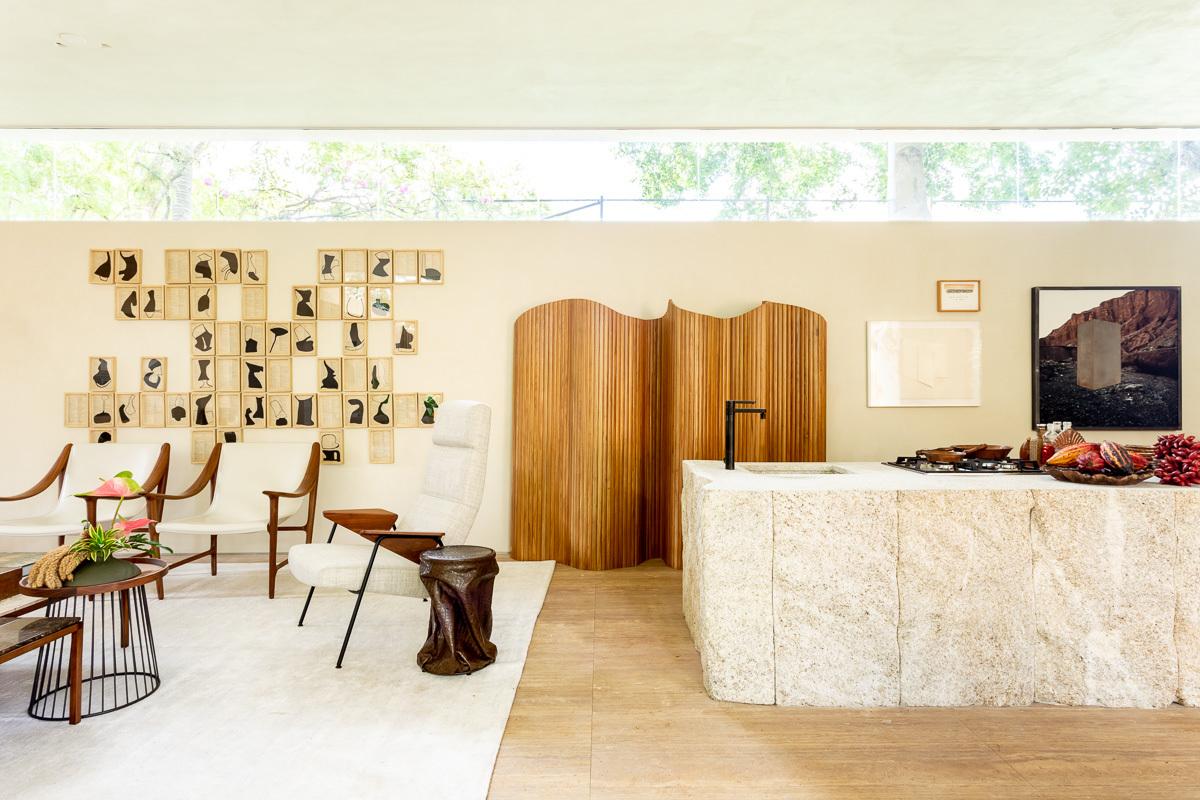 casa da árvore renault granilite cozinha granilite na bancada terrazzo revestimento decoração