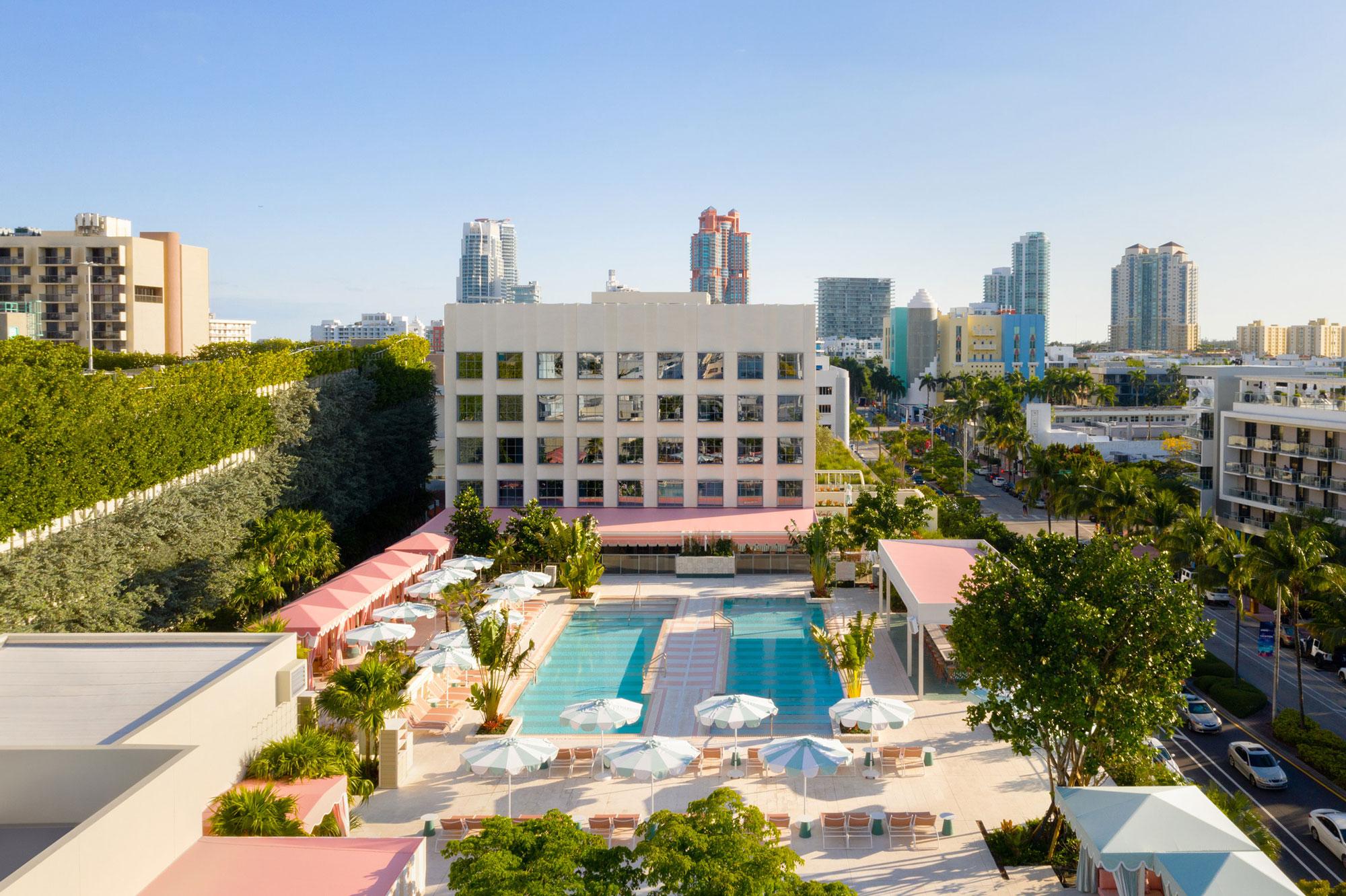 goodtime hotel pharrell williams miami david grutman piscina cores pastéis arquitetura construção