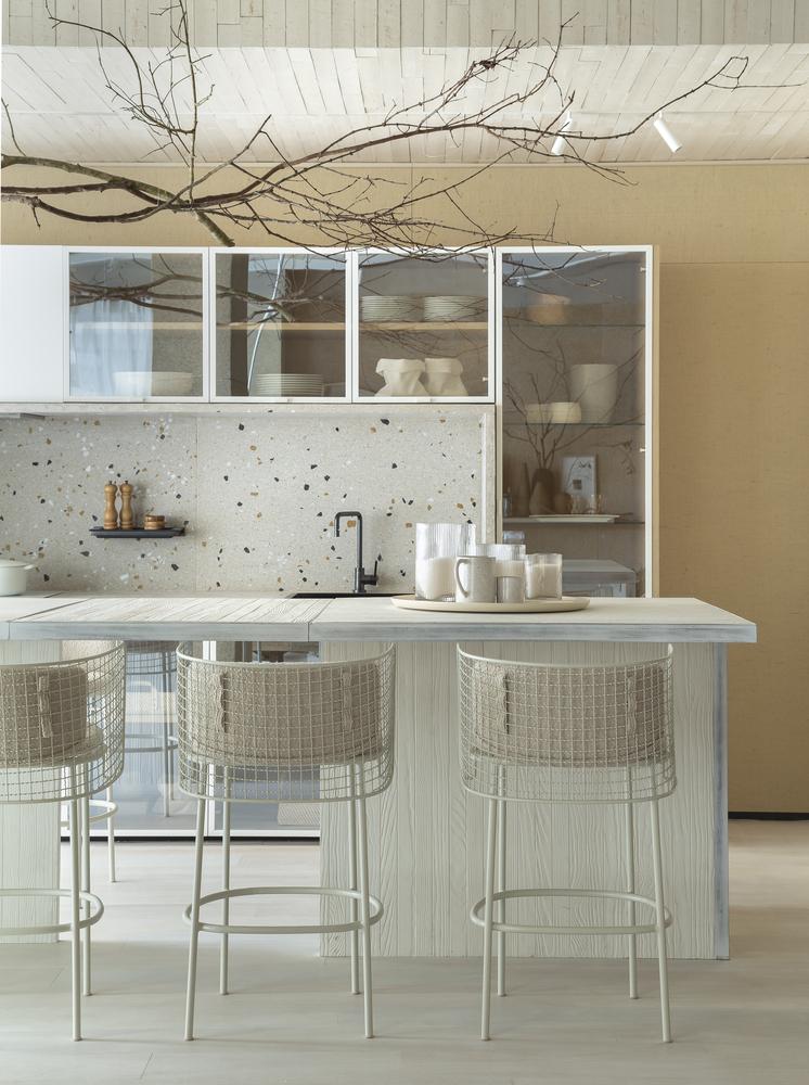 loft pra perto do mar juliana pippi casacor santa catarina florianopolis 2019 foto mariana boro granilite cozinha com ilha