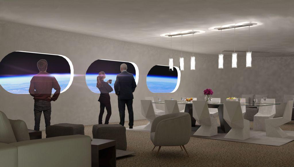 qual o tamanho do hotel espacial