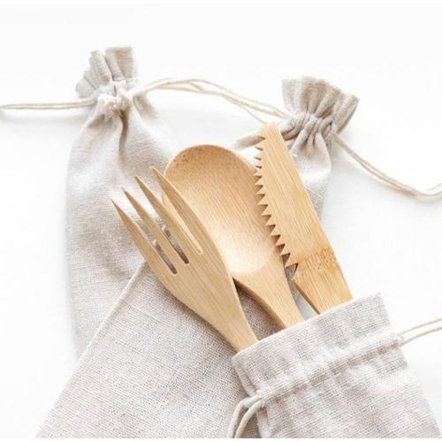 talher de bambu reduzir plástico