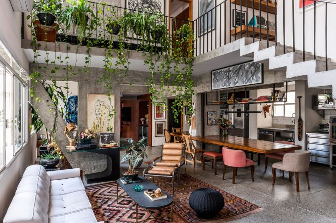 Apartamento repleto de plantas em São Paulo assinado pelo escritório Messa Penna Arquitetura