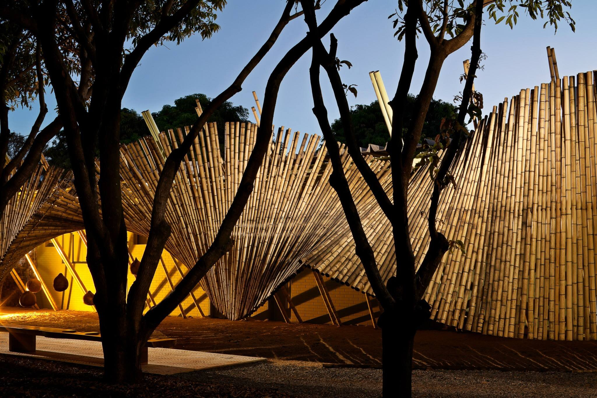 instalação de bambu casacor brasília 2011 sustentabilidade