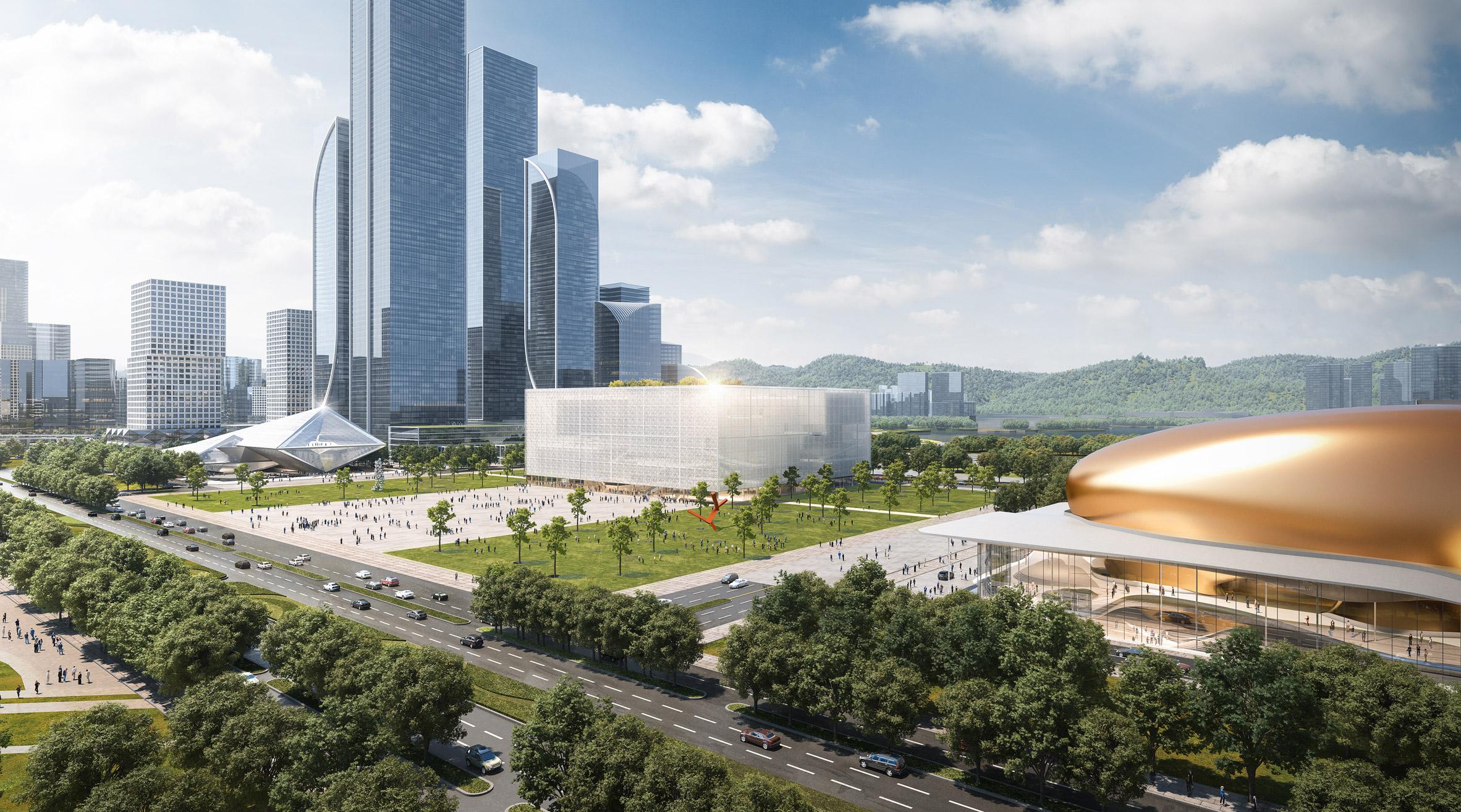 sou fujimoto Centro de Exposições de Reforma e Abertura de Shenzhen China arquitetura fachada