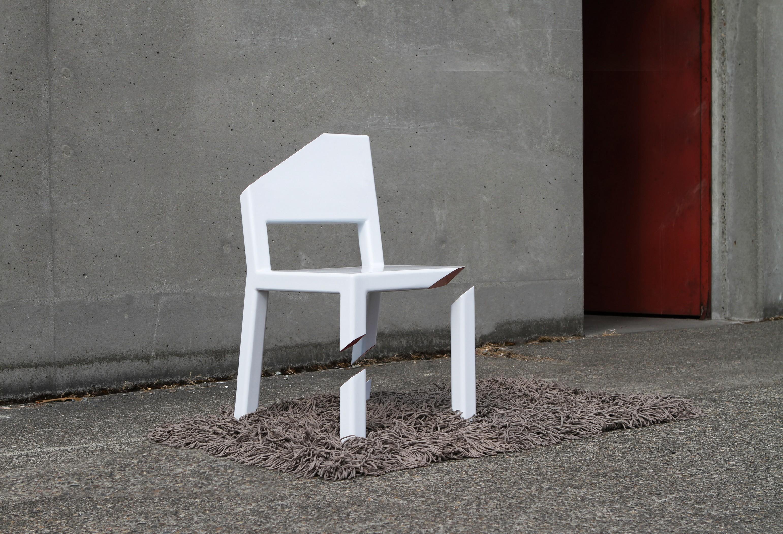cadeira cut peter bristol ilusão de ótica design cadeira