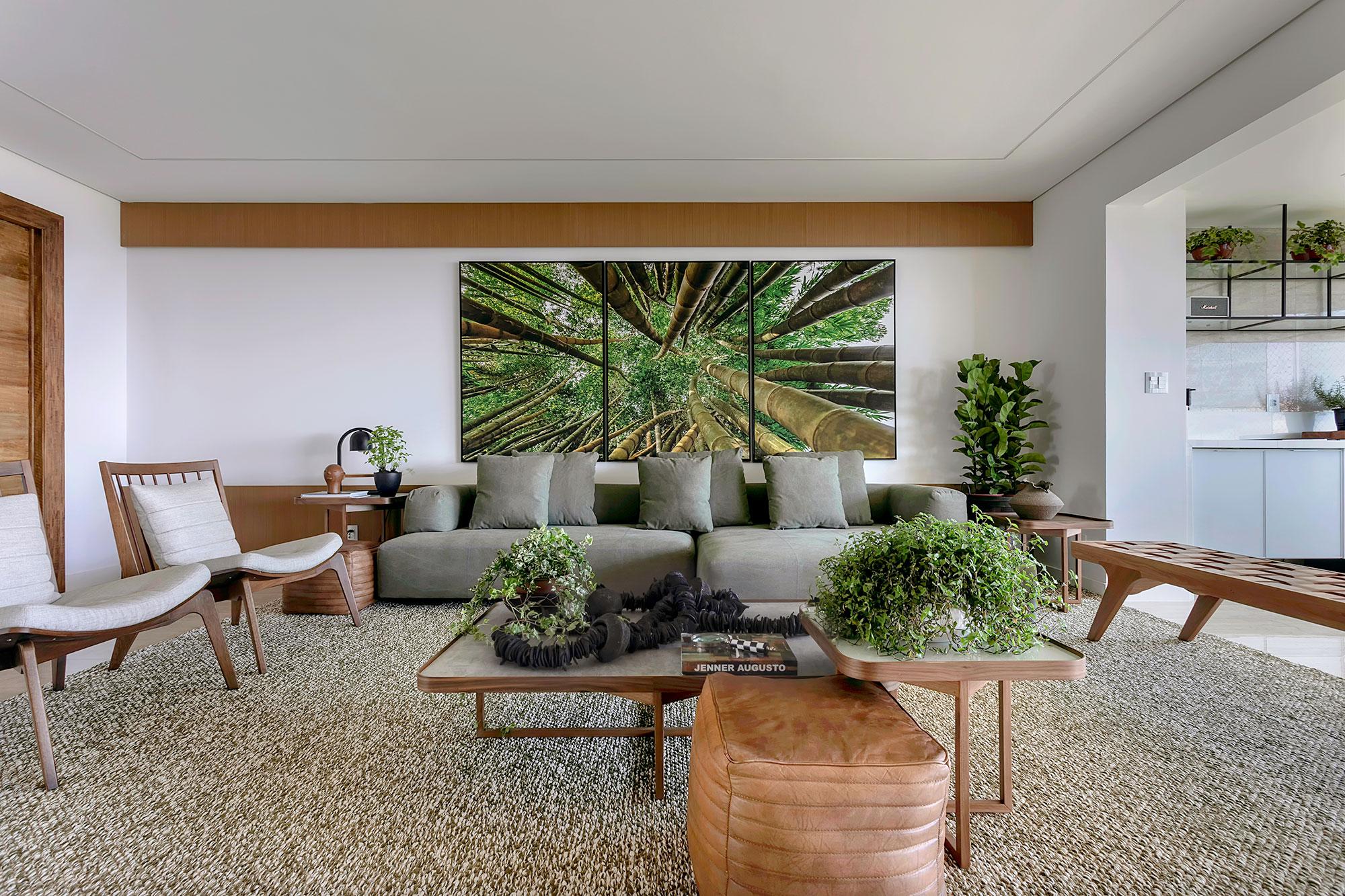 apartamento bambu jessica araújo casacor clean decoração interiores casa sofá quadro poltrona tapete