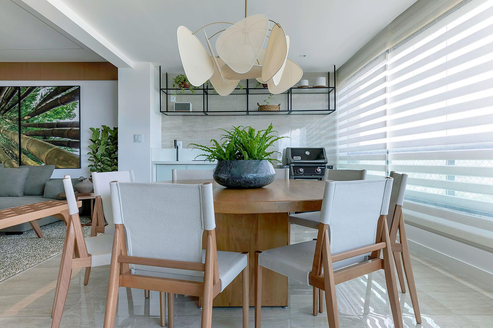apartamento bambu jessica araújo casacor clean decoração interiores casa cozinha cadeira vista