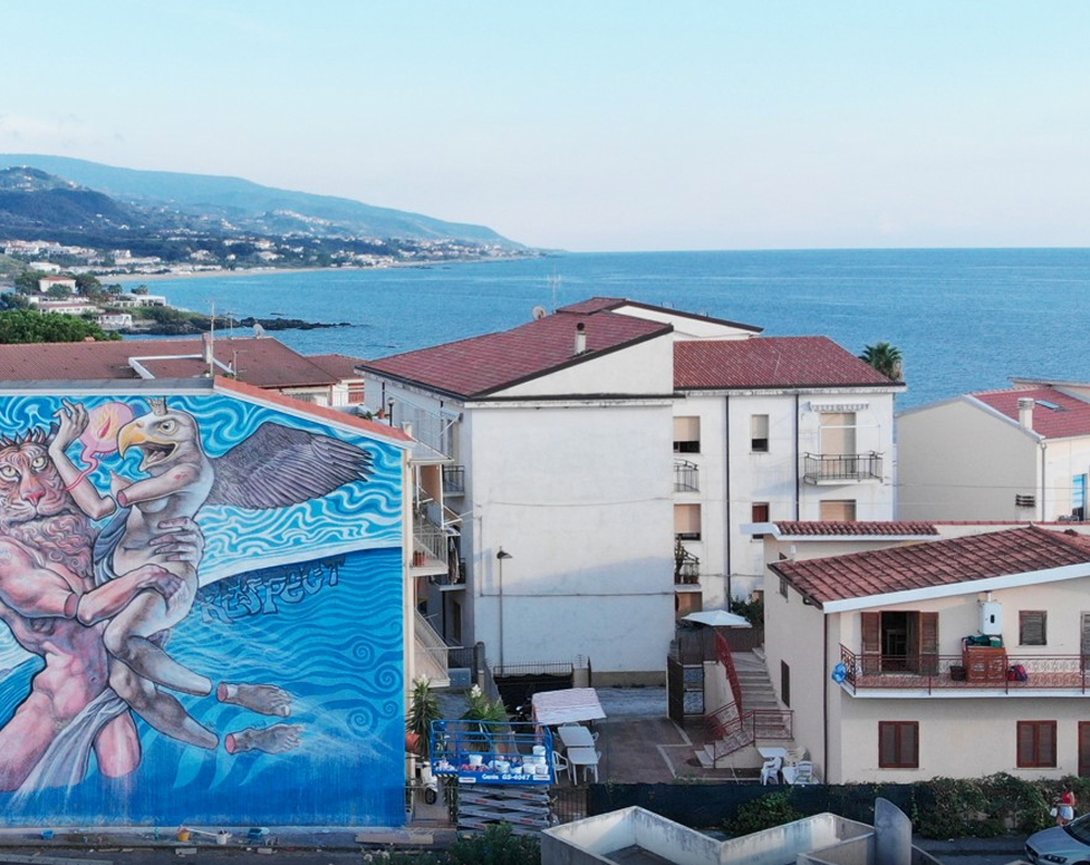 arte de rua grafitti grafite diamante itália cores pintura cidade vila arte artistas