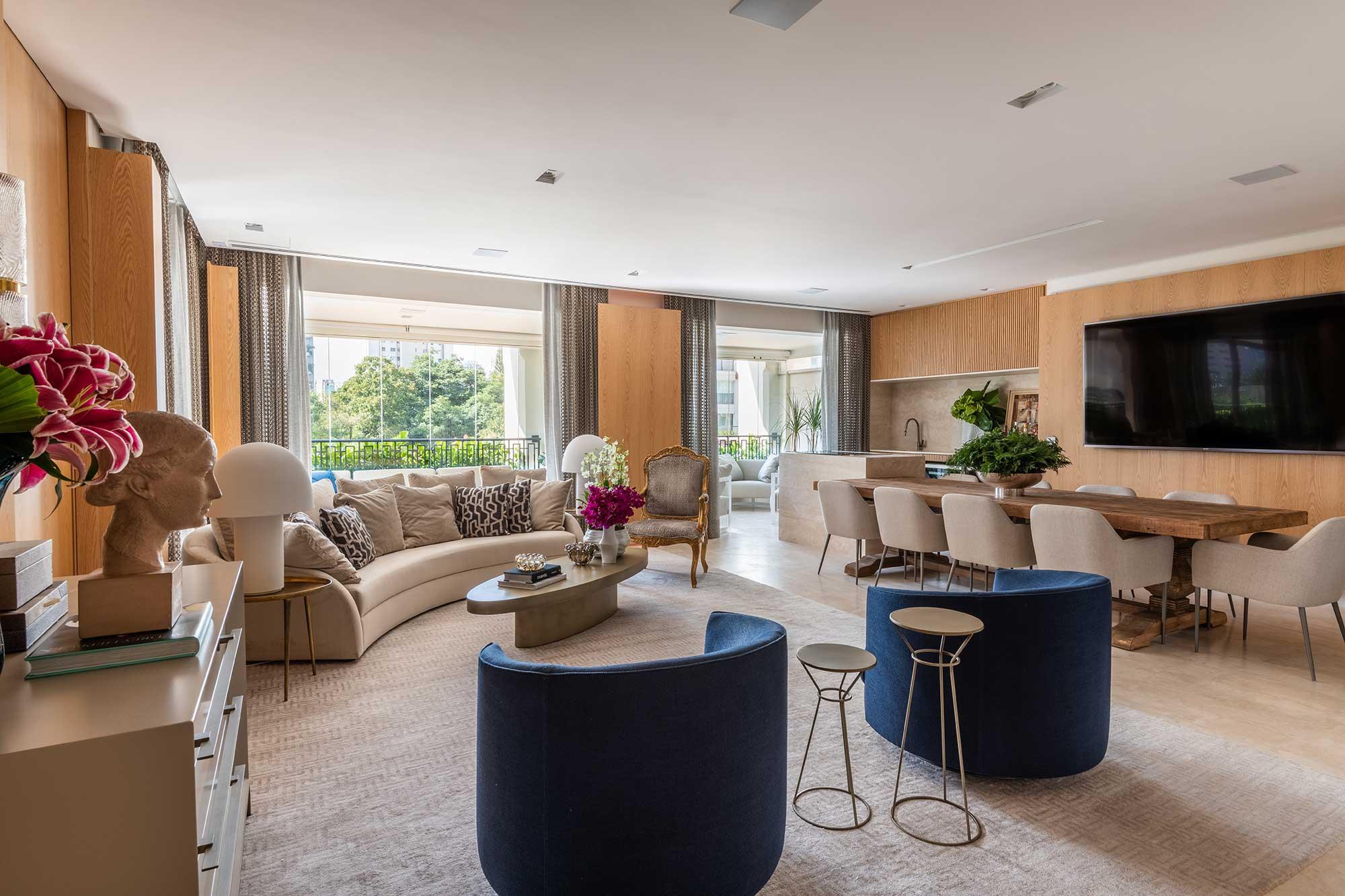 Com muito conforto, apartamento para família valoriza o encontro