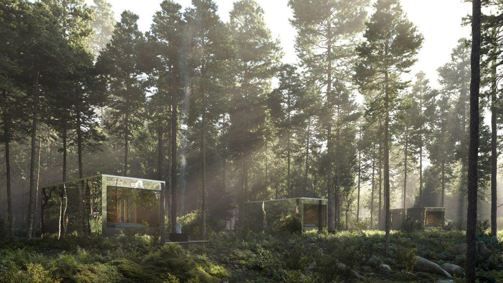 cabana em meio a natureza no canada