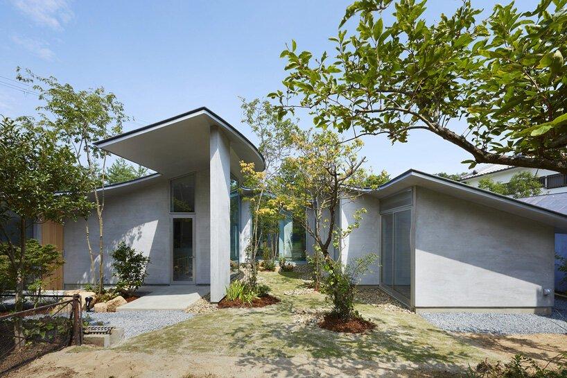 casa com telhado flexivel