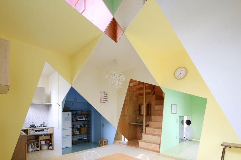 casa da ana toquio ilusão de ótica cores