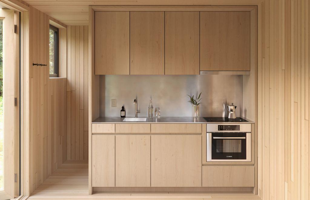 cozinha em madeira pinho planejado marcenaria
