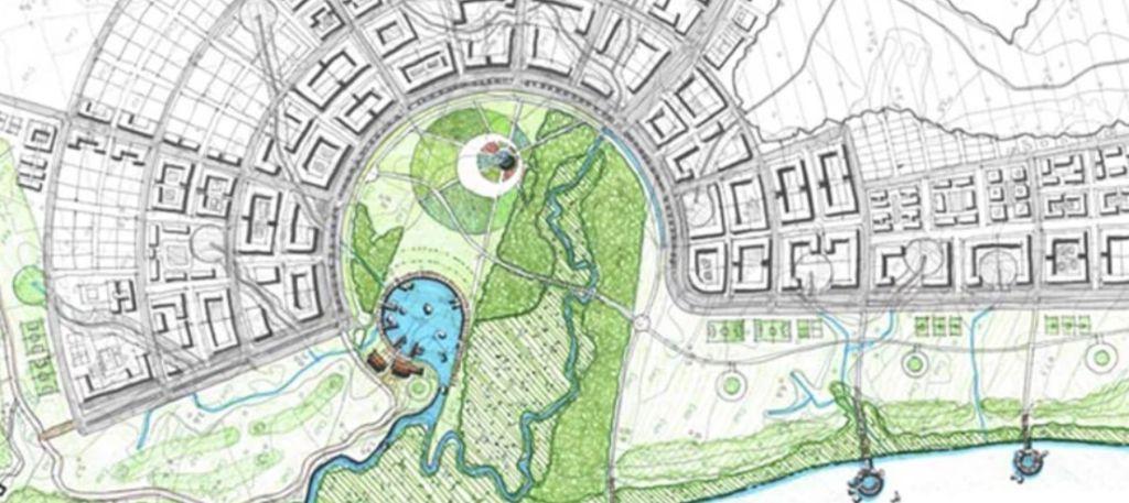 croqui de mapa urbano de florianópolis