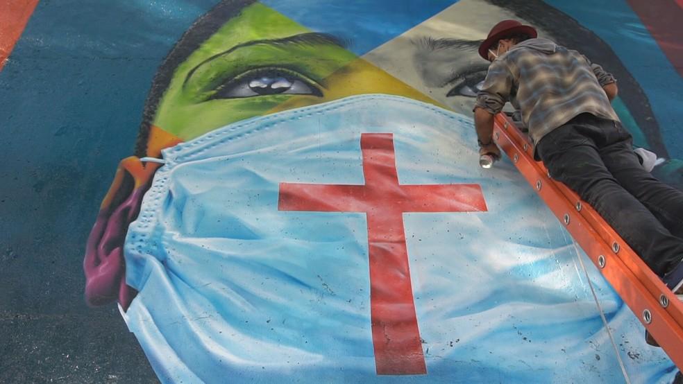 mural Kobra; são paulo; pinheiros; homenagem; vitimas da covid