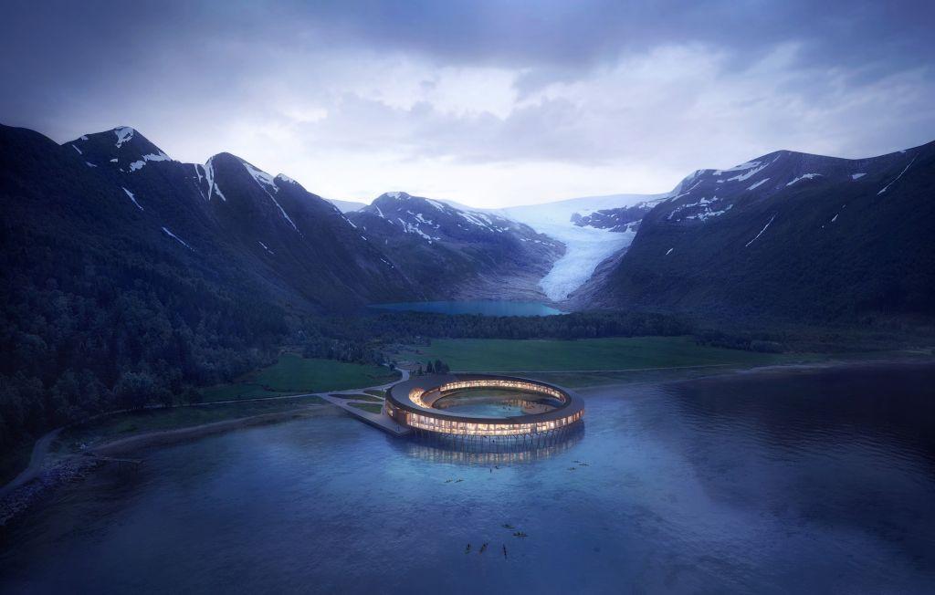 hotel mais sustentável do mundo Svart localizado na Noruega