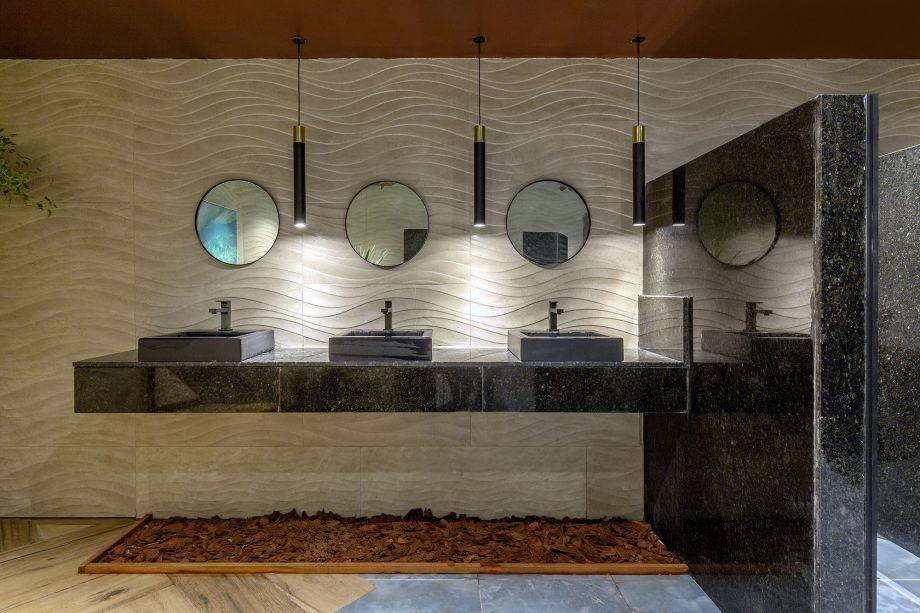 Banheiro Público Masculino - Bauen Arquitetura.