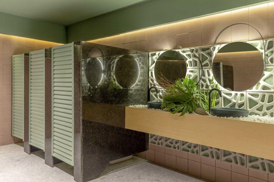 Banheiro Público Feminino - Paulo Costa Arquitetura.
